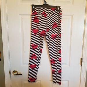 LulaRoe Valentines one size leggings